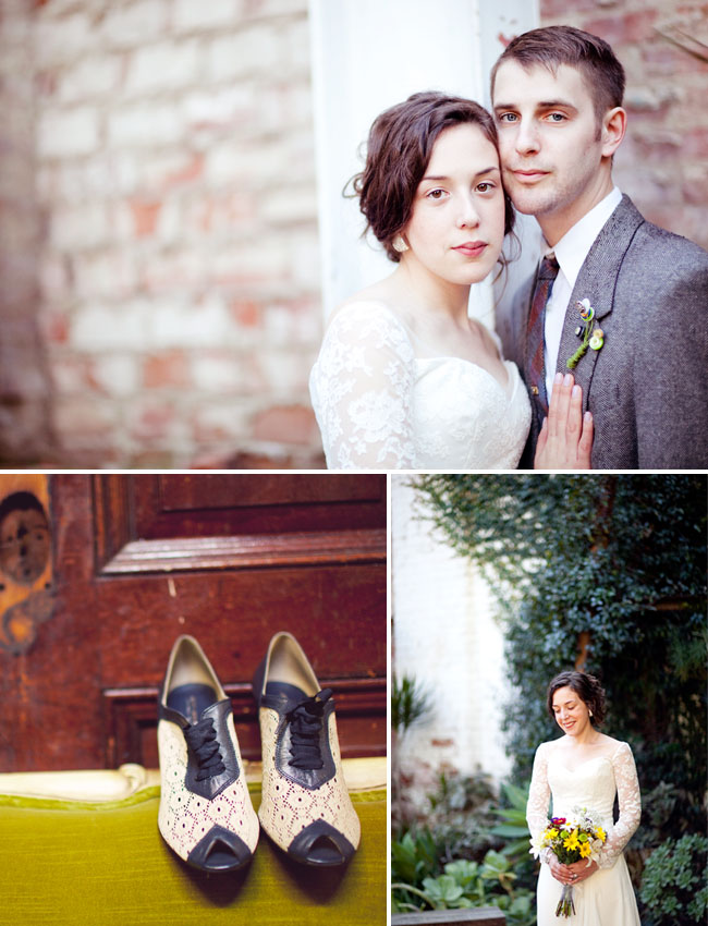 wedding with vintage shoes