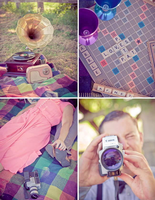 engagement photos with scrabble
