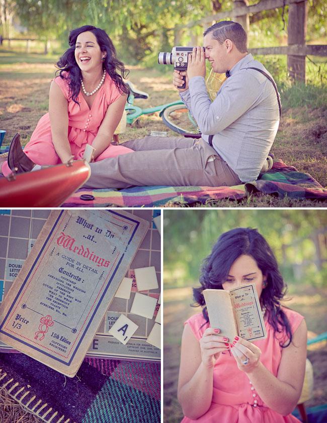 engagement photos picnic