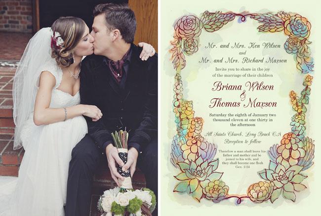 Real Wedding: Briana + Tom's Sweet Wedding