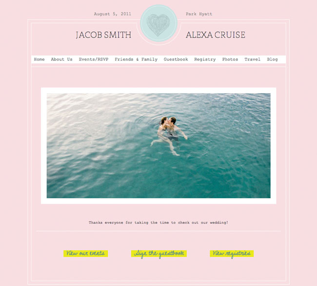 Wedding Registry Search By Name: Wedding Websites From Wedding Jojo