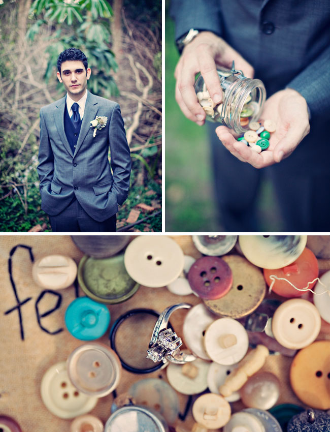 wedding with buttons