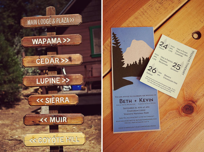 Yosemite wedding invitations