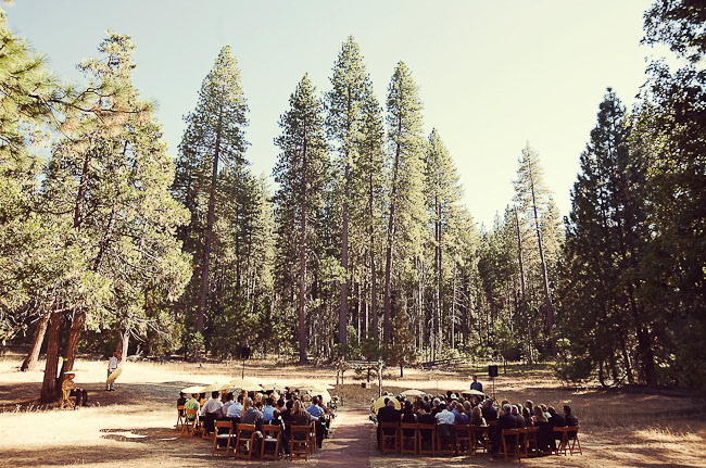 outdoor wedding in a forrest
