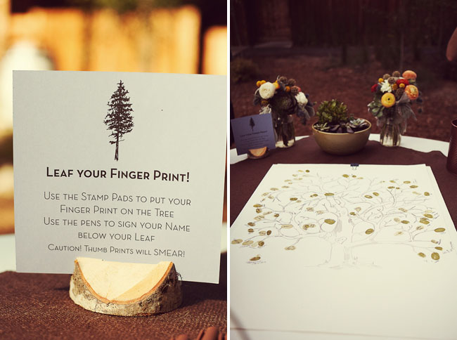 wedding centerpiece cards inspired by nature