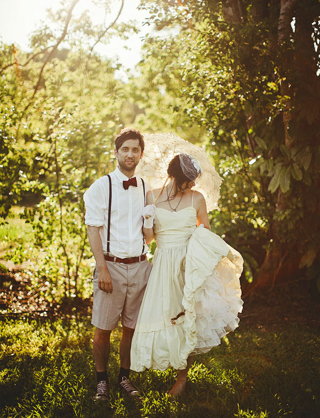 Real Wedding: Megan + Ross\' Garden Party Australian Wedding - Green ...