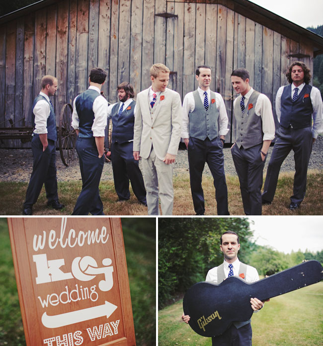 groomsmen with kite boutonniere