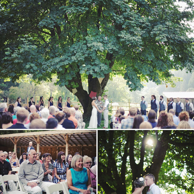 wedding under a tree