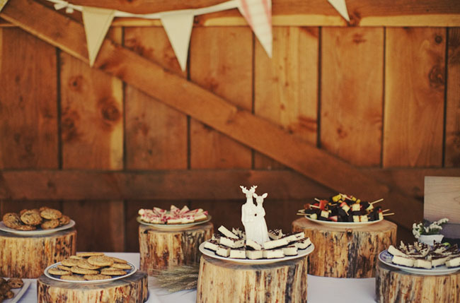 wedding dessert table rustic