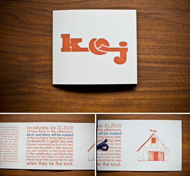 barn wedding invites