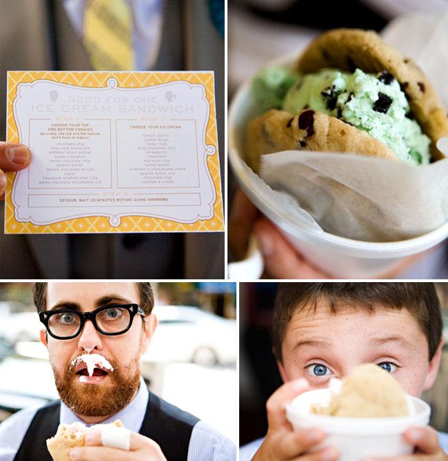ice cream sandwiches wedding