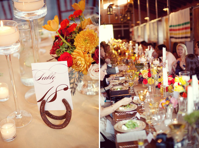 horse shoes for table numbers