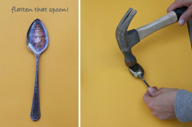hammer spoons flat