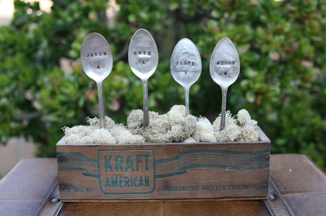 spoons with names for a wedding