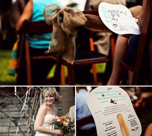 wedding programs as fans