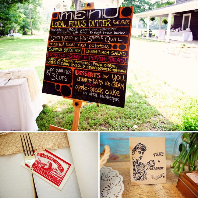 wedding menu local food