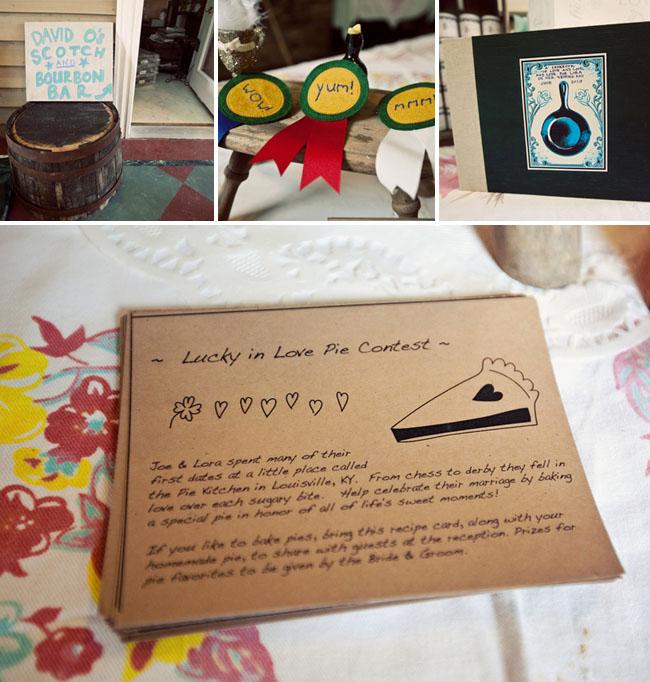 pie contest wedding