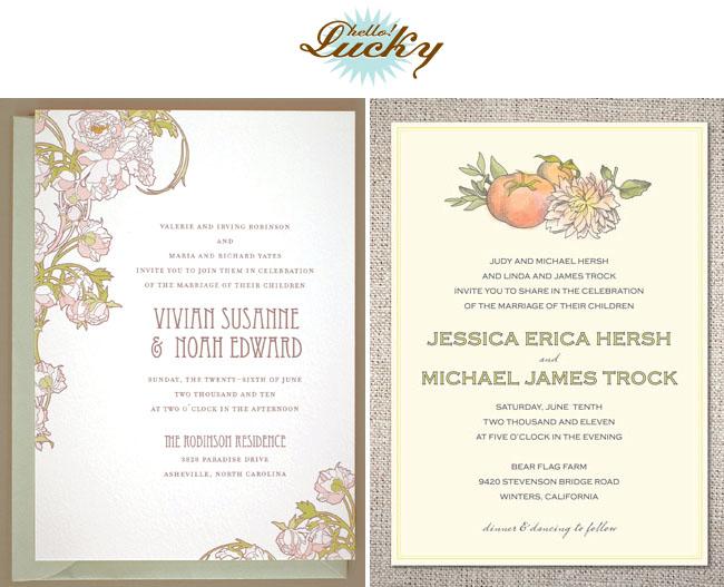 hello-lucky-wedding invites