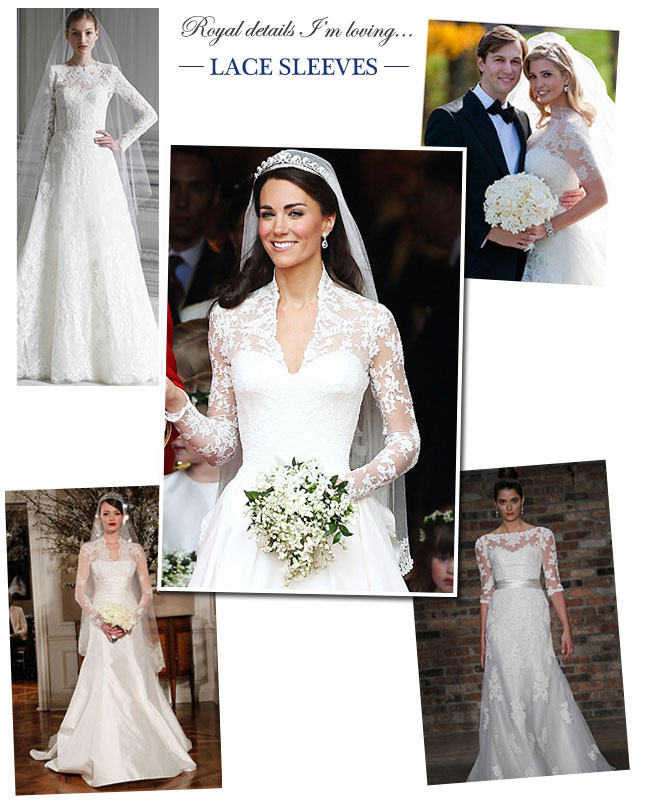 kate middleton wedding dress lace sleeves