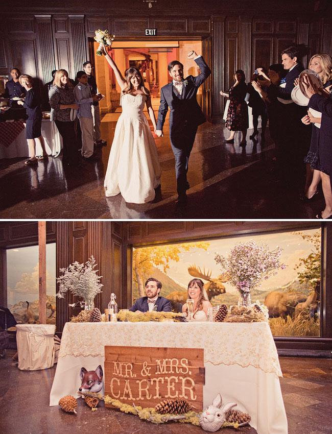 Real Wedding: Jillan + Jed\'s Natural History Museum Wedding - Green ...