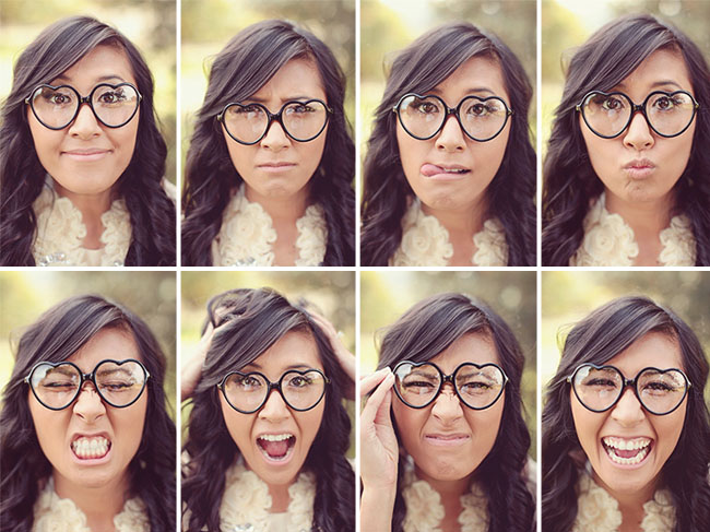 photos with heart glasses