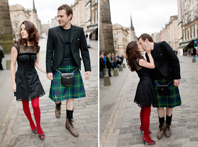kilt engagement photos