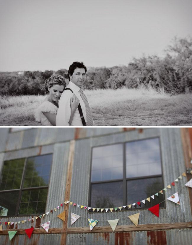 bunting at wedding