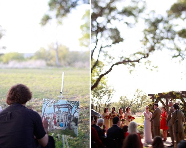 painter at wedding
