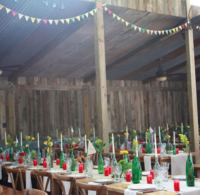 texas barn wedding reception