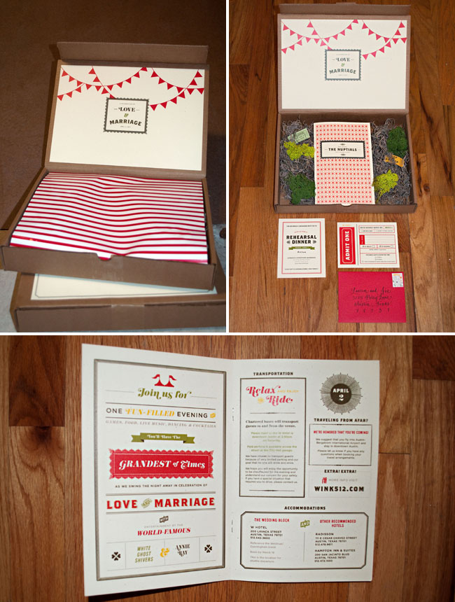 carnival wedding invitations