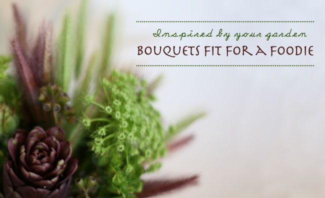 bouquet with artichoke