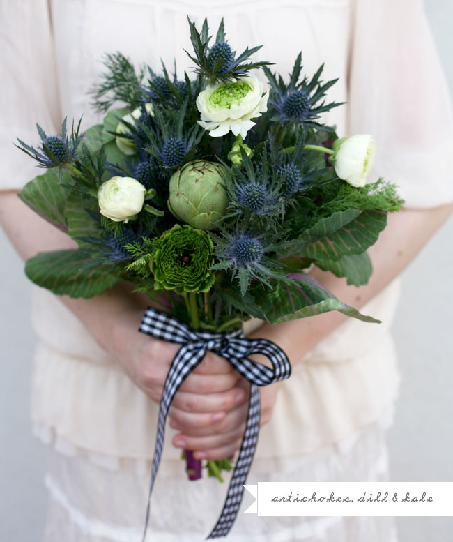 artichoke and kale bouquet