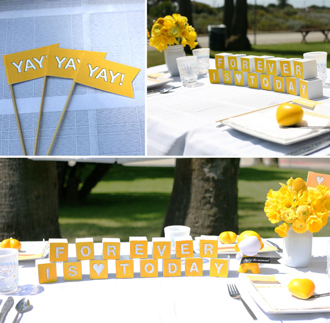 wedding blocks as decor