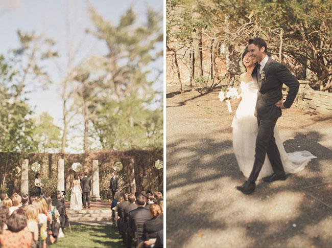 outdoor ruins wedding ceremony
