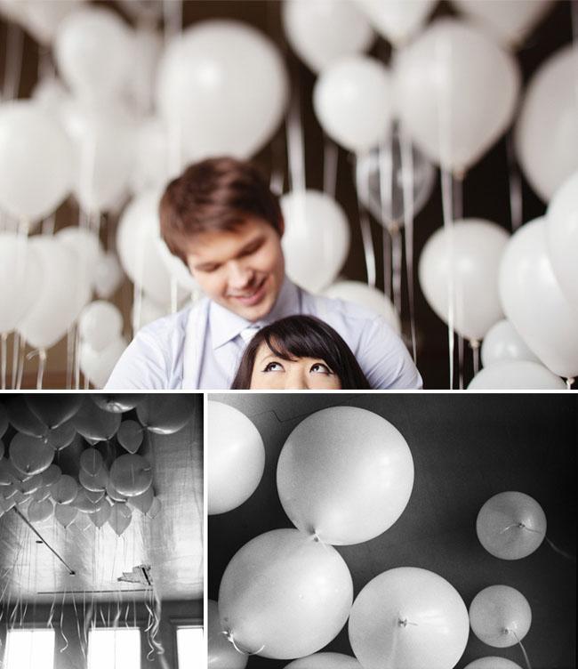 balloon engagement photos