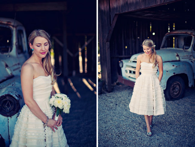 white short wedding dress