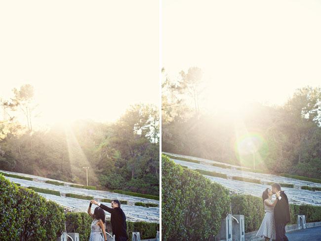 engagement photos at the hollywood bowl