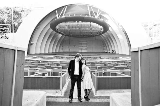 engagement photos at the hollywood bowl
