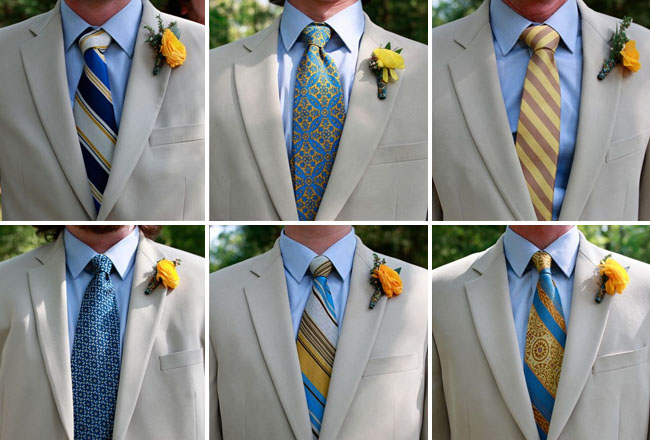 groomsmen in ties