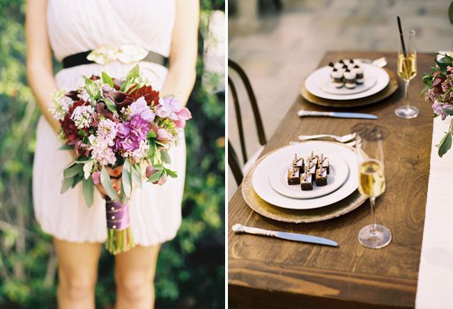wedding bouquet purple flowers