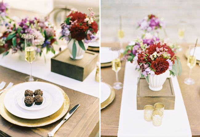 wedding table decor flowers