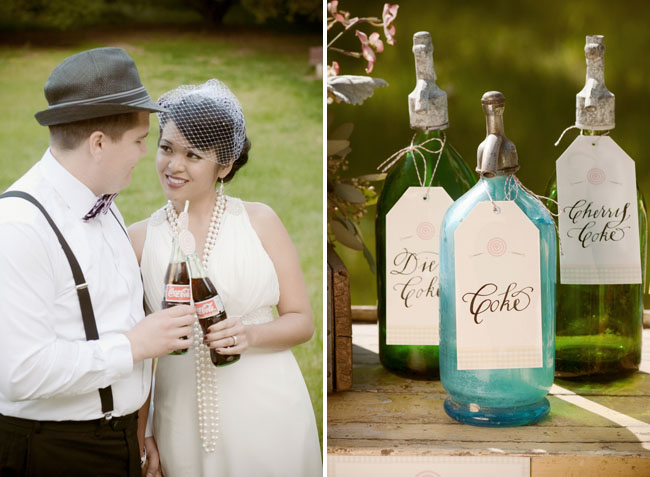 coke soda bar wedding