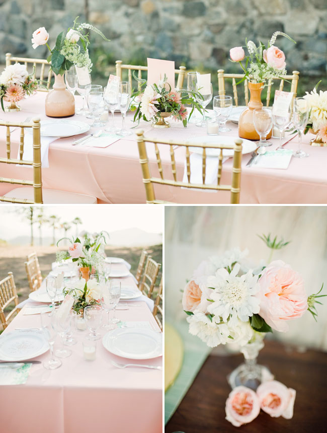 pretty vintage table reception