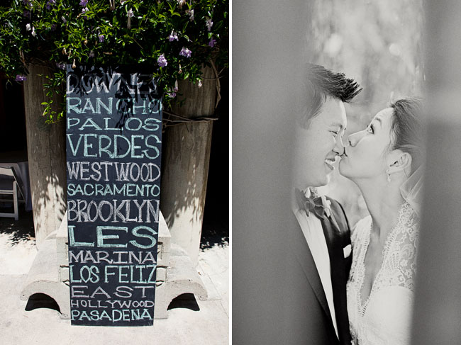 chalkboard writing wedding