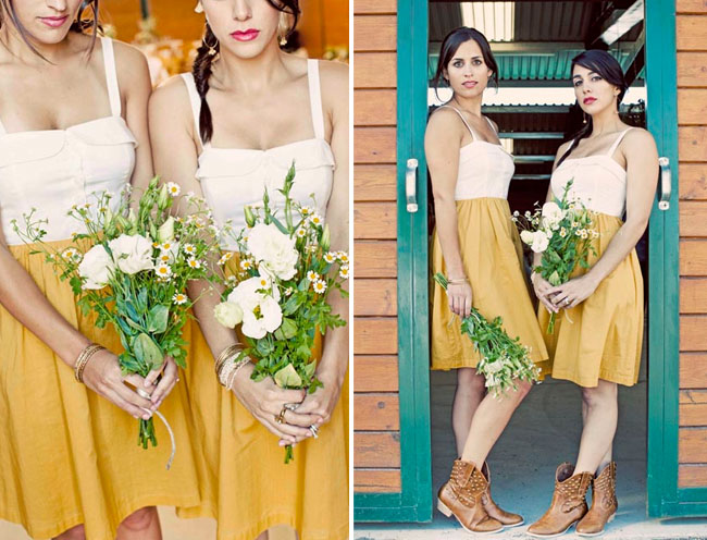 anthropologie bridesmaids dresses yellow