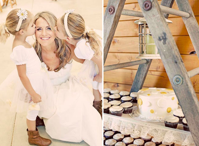 dessert table with ladder