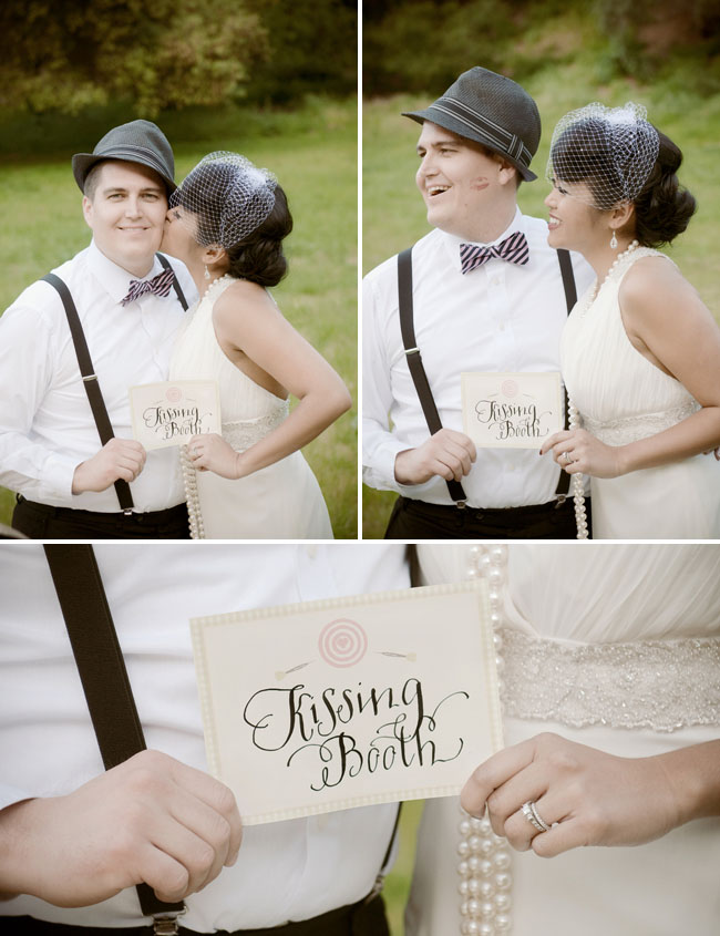 A soda bar classic games cute ideas for your wedding green kissing booth junglespirit Image collections