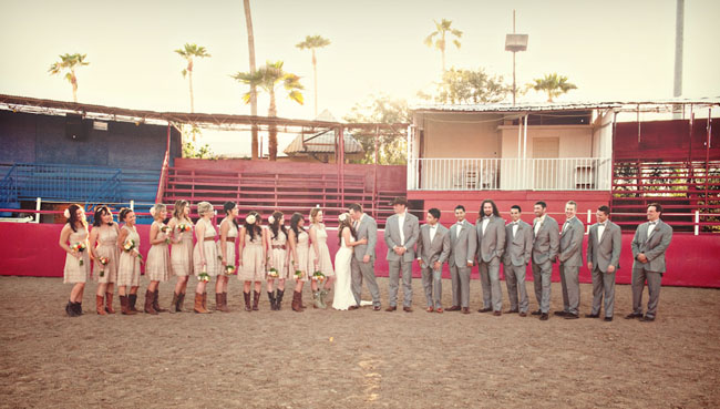 bridal party at the rodeo