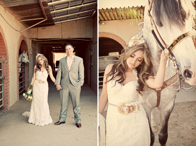 Bride With A Horse Mexican Vintage Wedding