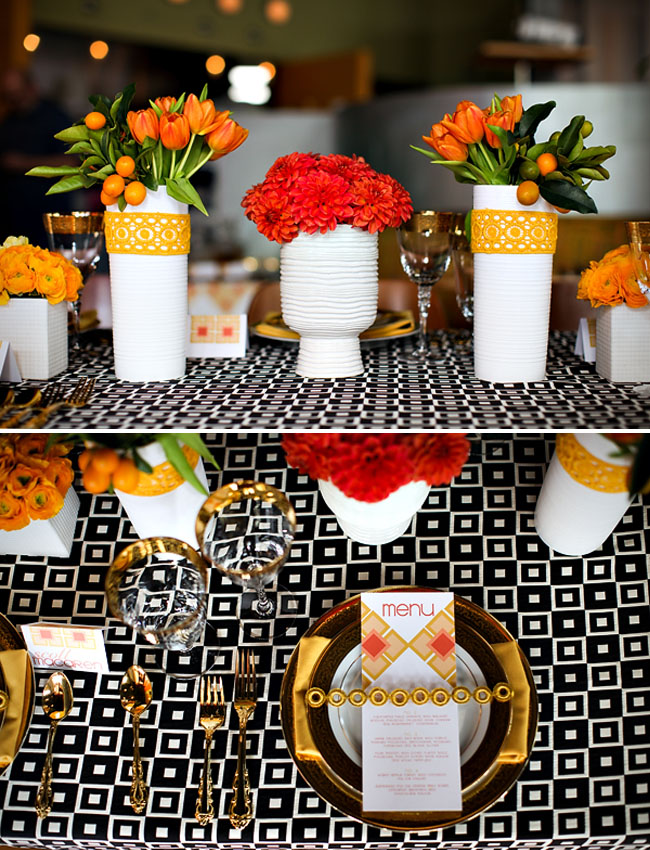 mod wedding table decor